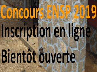 Inscription en ligne Concours ENSP 2019